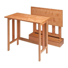 Set of 2 Curly Cherry Metro Tray Tables with Base