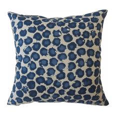 """Eilert Ikat Throw Pillow, Blue, 12""""x18"""""""
