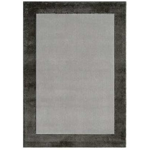 Blade Border Rug, Charcoal and Silver, 200x290 cm