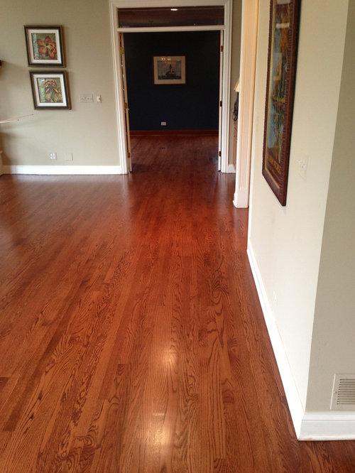 Hardwood Flooring Installation Chestnut Stain Blend
