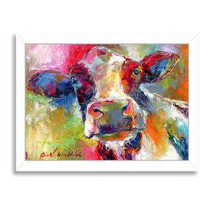 """Cow 1,"" Art Print, 9""x11""x1"""