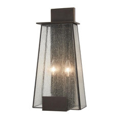 Minka Lavery Bistro Dawn 2-Light Outdoor Wall Mount, Dakota Bronze