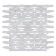 Pearl, Long Hexagonal Mosaic - Glass Tile