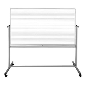 "Luxor MB7248MW 72""x48"" Mobile Music White Board"