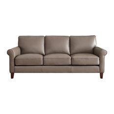 Hydeline Laguna 100% Leather Sofa, Taupe