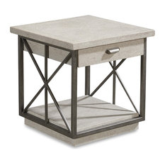A.R.T. Home Furnishings Arch Salvage Burton End Table Mist