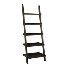 Coaster Cappuccino Ladder Bookcase With 5-Shelf