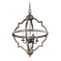 4-Light Hal-Light/Foyer, Stardust/Cerused Oak