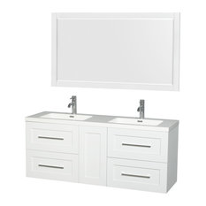 "Olivia 60"" Double Vanity, Acrylic Resin Top, Integrated Sinks,"