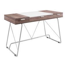 Panel Office Desk, Birch