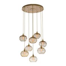 Coppa Round Multi-Port 8-Piece, Metallic Beige Silver, Optic Bronze Glass