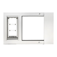 "Endura Flap Pet Door, Thermo Sas, Medium Flap 8""x15"", White, 31-34 "" Wide Range"