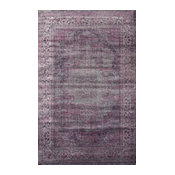 "Machine Made Traditional Rug, Amethyst, 7'8""x9'6"""