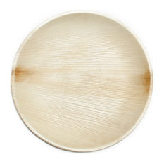 """Leaf & Fiber - 9"""" Compostable, Sustainable and All Natural Palm Leaf Dinnerware - Disposable Plates and Bowls"""