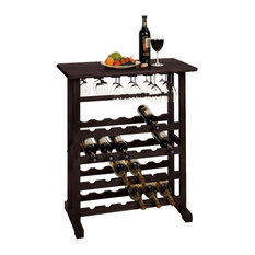Winsome - Vinny Wine Rack, 24-Bottle With Glass Hanger - Wine Racks