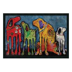 "Framed Art Print 'Best Friends' by Jenny Foster, Outer Size 38""x26"""
