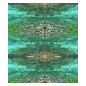 """""""Turquoise China"""" Acrylic Wall Mounted Picture, 66x76 cm"""