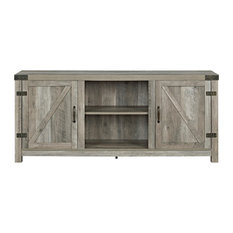 Raw   Abigail Media Console, Gray   Entertainment Centers And Tv Stands
