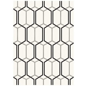 Patio Rectangular Rug, White, 160x230 cm
