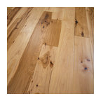 Hickory Hand Scraped Prefinished Solid Wood Flooring, Natural, 1 Box