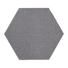 Color World Collection Way Solid Color Area Rug, Gray, 10' Hexagon