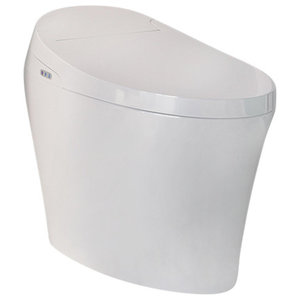 Pleasant Sleek Round White Ceramic Wall Toilet With Seat Beatyapartments Chair Design Images Beatyapartmentscom