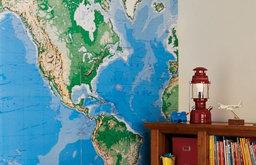 Jumbo World Map Mural