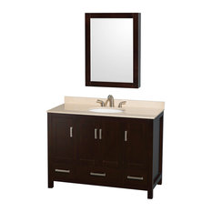 "Sheffield 48"" Espresso Bathroom Vanity, Ivory Marble Top"