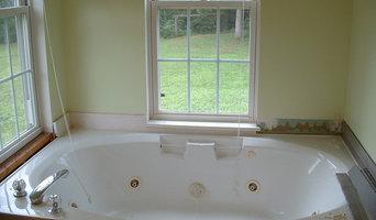 Mosaic tile tub surround