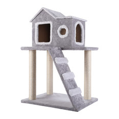 CO-Z Cat Tree Condo Tower With Ladder and Scratching Posts