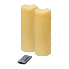 Simplux LED Dripping Candle With Moving Flame, Set of 2