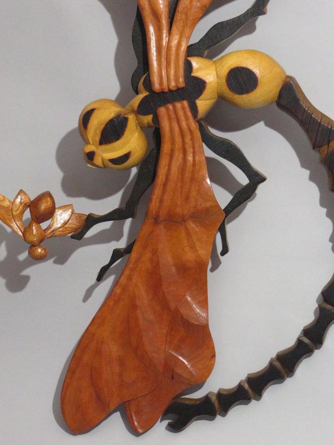 """DETAIL: Full Left Rudder (Wall-mounted Sculpture 40""""x22"""")"""