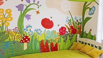 Girl's Bedroom Renovation & Mural Painting