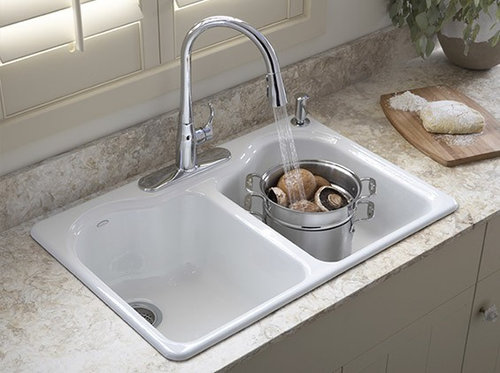 Kitchen Sink Question I Have Gotten Used To Having An Old Fashioned Drop In White Cast Iron Sink With 2 Bowls But When I Went To Buy A New