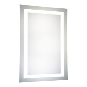 """LED Hardwired Mirror Rectangle W24""""H40"""" Dimmable 5000K"""