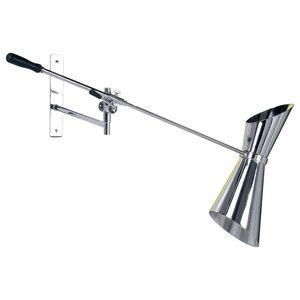 Adjustable Stilnovo Wall Lamp, Chrome