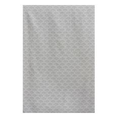 Peacock Curtain Fabric, Grey
