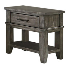 Standard - Standard Furniture Nelson Youth Nightstand in Grey 90357 - Nightstands and Bedside Tables