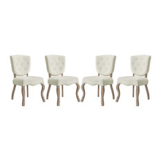 Modway Array Set Of 4 Dining Side Chair With Ivory Finish EEI-3382-IVO