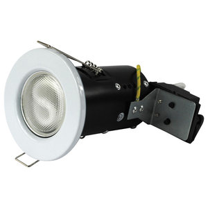 IP20 Fire Rated Recessed Downlighter With Halogen Bulb, White