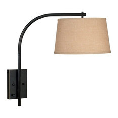 Articulating arm wall lighting houzz kenroyhome sweep 1 light swing arm lightswall lamps oil aloadofball Image collections