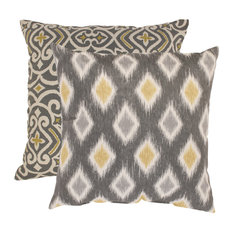 Pillow Perfect Damask and Rodrigo Floor Pillows, 2-Piece Set