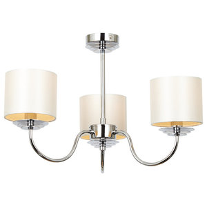 Dara 3-Light Ceiling Light, Polished Chrome