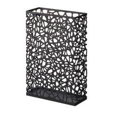 Nest Rectangular Umbrella Stand, Black