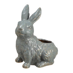 Silk Plants Direct Bunny Planter, Pack of 2