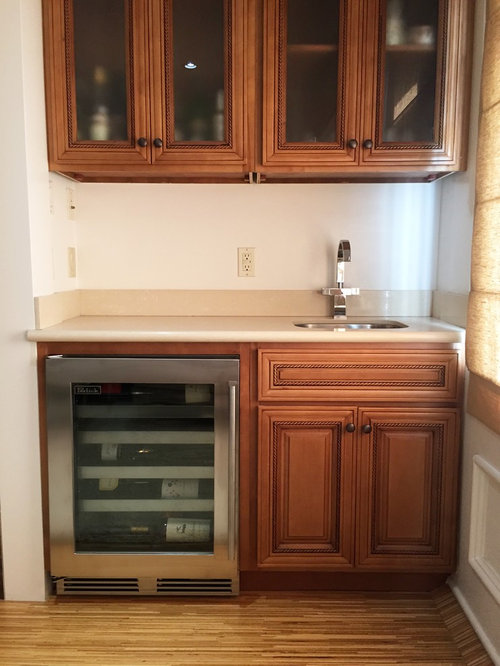 Wine Fridge Installation By Replacing A Cabinet