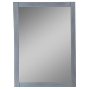 Legion Furniture Tessa Mirror, Gray, 24""