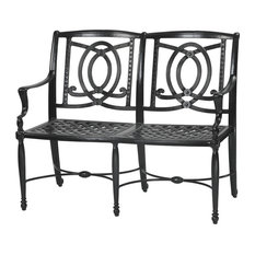 Bel Air Benches, Set of 2, Midnight Gold, Canvas Flax
