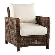 South Sea Rattan Del Ray Outdoor Chair, Chestnut 76601