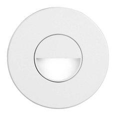 Dainolite DLEDW-300-WH White Round In/Outdoor 3W Led Wall Light